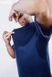 träningskläder som luktar sure