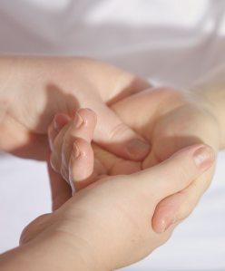 Massage av handflata